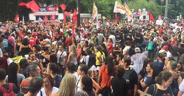 PRIMEIRO ATO CONTRA AS REFORMAS DO GOVERNO TEMER
