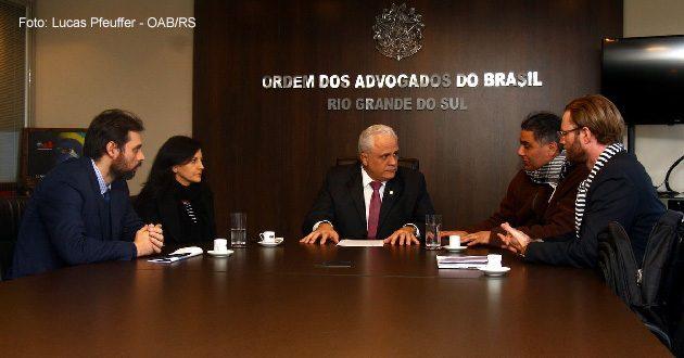 Presidente da OAB/RS recebe Sindicato dos Artistas e Sindicato dos Músicos para tratar da regulamentação das profissões