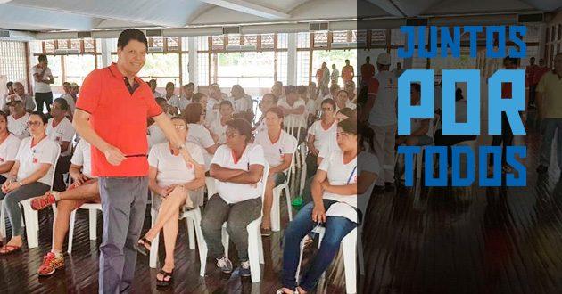 """SENALBA-GO apoia a campanha """"JUNTOS POR TODOS"""""""