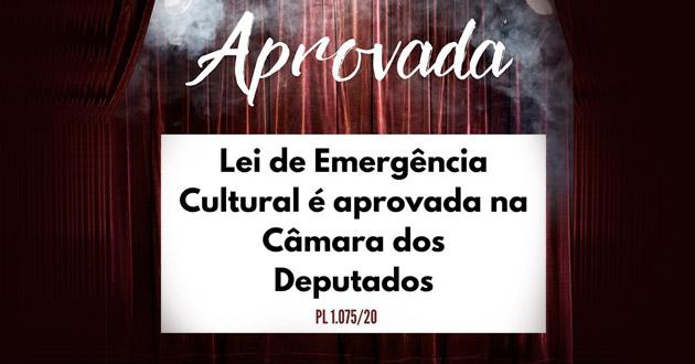 Aprovado projeto de ações emergenciais para a cultura